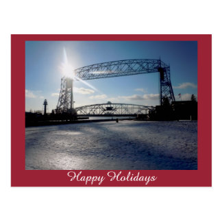 Carte Postale Salutation de vacances de pont d'ascenseur