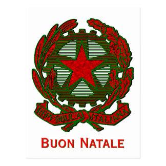 Carte Postale Salutation italienne de Noël