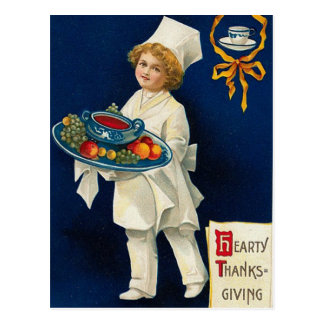 Carte Postale Salutation vintage de thanksgiving