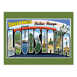 Carte Postale Salutations de Baton Rouge Louisiane