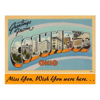 Carte Postale Salutations de Columbus