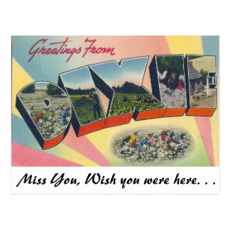 Carte Postale Salutations de Dixie
