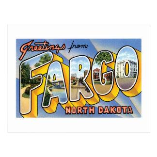 Carte Postale Salutations de Fargo, le Dakota du Nord !