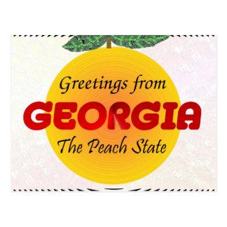 Carte Postale Salutations de la Géorgie