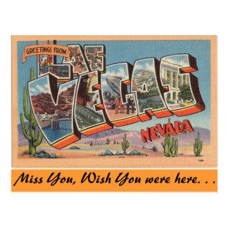 Carte Postale Salutations de Las Vegas