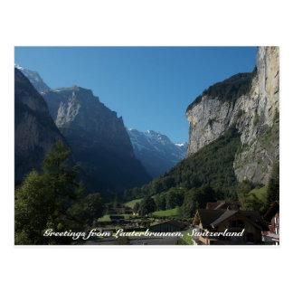 Carte Postale Salutations de Lauterbrunnen, Suisse 1