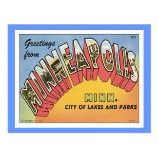 Carte Postale Salutations de Minneapolis