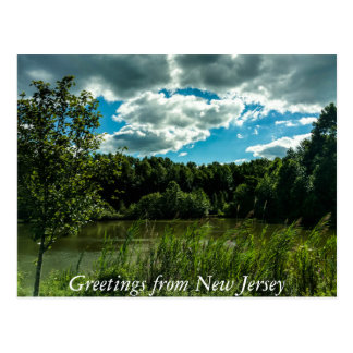 Carte Postale Salutations de New Jersey