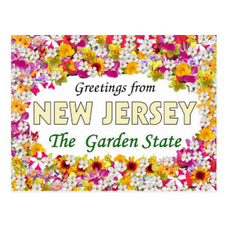 Carte Postale Salutations de New Jersey