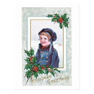 Carte Postale Salutations de Noël