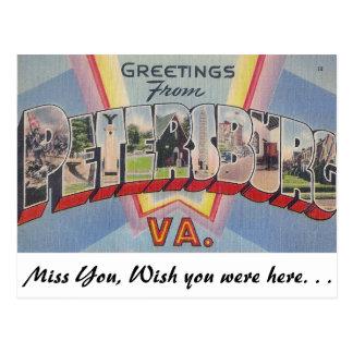 Carte Postale Salutations de Pétersbourg, la Virginie