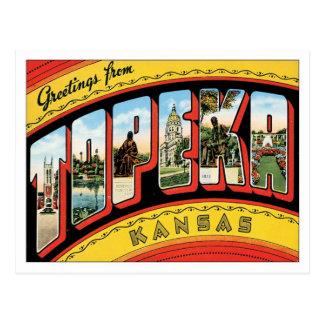 Carte Postale Salutations de Topeka le Kansas