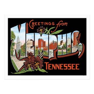 Carte Postale Salutations de ville de Memphis Tennessee USA