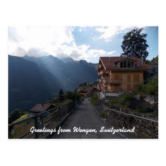 Carte Postale Salutations de Wengen Suisse 1