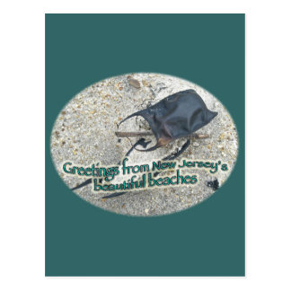 Carte Postale Salutations des belles plages du New Jersey