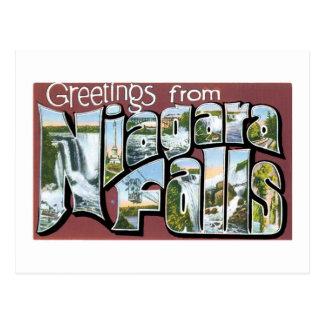 Carte Postale Salutations des chutes du Niagara ! Cru