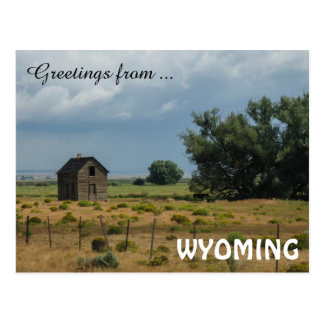 Carte Postale Salutations du Wyoming