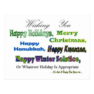 Carte Postale Salutations multi vertes de vacances