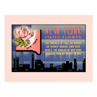 Carte Postale Salutations vintages de fleur de l'état de