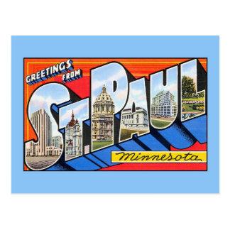 Carte Postale Salutations vintages du saint (St) Paul Minnesota
