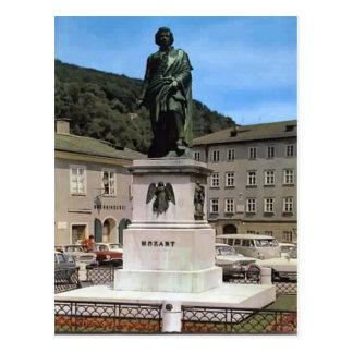 Carte Postale Salzbourg, mémorial de Mozart