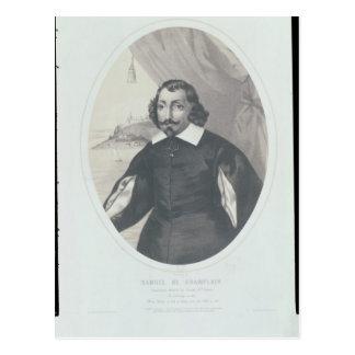 Carte Postale Samuel de Champlain 1854
