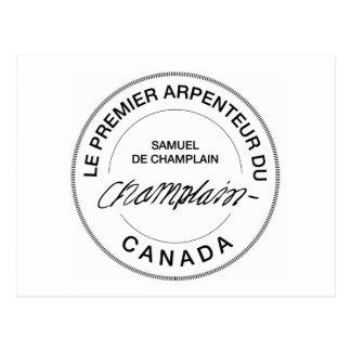 Carte Postale Samuel de Champlain Arpenteur du Canada