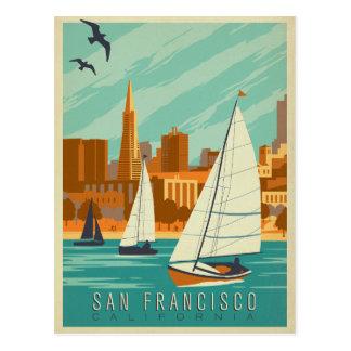 Carte Postale San Francisco, CA - voiliers
