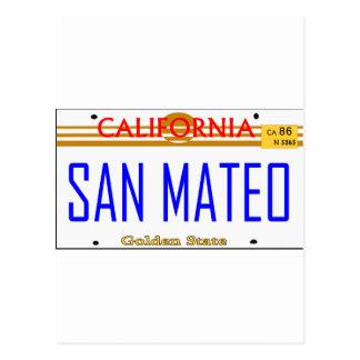 Carte Postale San Mateo, Ca Lincense -- T-shirt