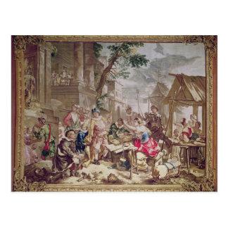 Carte Postale Sancho Panza et le vendeur d'écrou