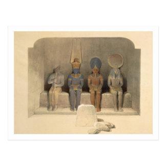 "Carte Postale Sanctuaire du temple d'Abu Simbel, de ""Egypte"