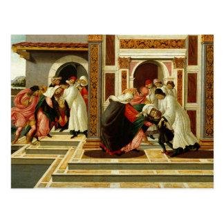 Carte Postale Sandro Botticelli - dernier miracle et la mort de