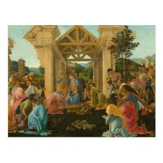 Carte Postale Sandro Botticelli - l'adoration des Magi