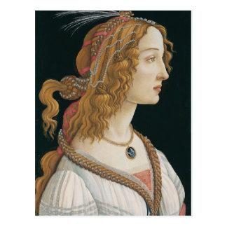 Carte Postale Sandro Botticelli - portrait idéalisé de Madame