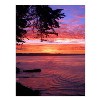 Carte Postale Santa Cruz, lever de soleil de CA