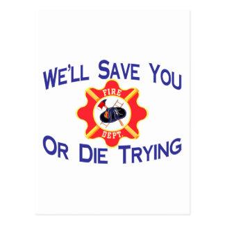 Carte Postale Sapeur-pompier