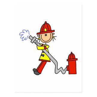 Carte Postale Sapeur-pompier avec des T-shirts et des cadeaux de