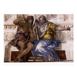 Carte Postale Saturn (temps) et Historia par Paolo Veronese