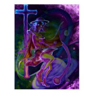 Carte Postale Saturn venteux psychédélique