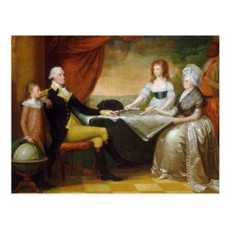 Carte Postale Sauvage d'Edouard la famille de Washington