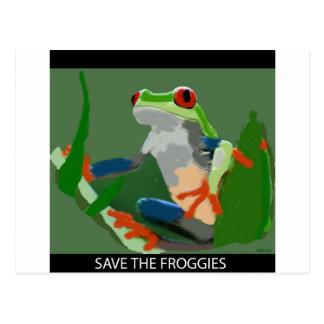 Carte Postale Sauvez les Froggies