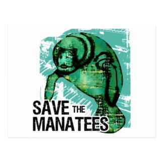 Carte Postale Sauvez les lamantins