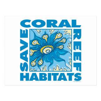 Carte Postale Sauvez nos récifs coraliens