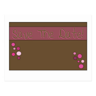 Carte Postale savethedate rose