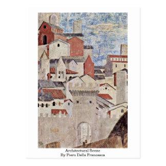 Carte Postale Scène architecturale. Par Piero della Francesca