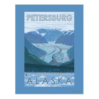 Carte Postale Scène de glacier - Pétersbourg, Alaska