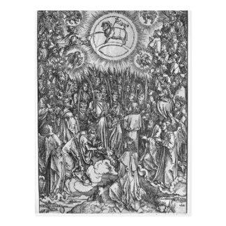 Carte Postale Scène de l'apocalypse, adoration de