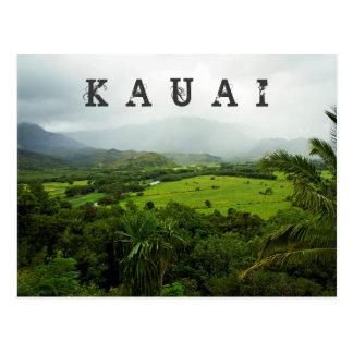 Carte Postale Scène de paysage de Kauai, Hawaï