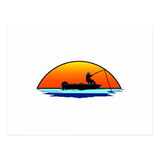 Carte Postale Scène de pêche
