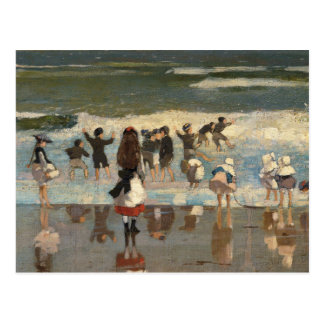Carte Postale Scène de plage - Winslow Homer